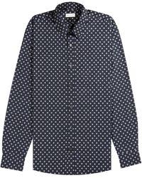 Dries Van Noten 'corbin' Sequin Shirt Navy - Blue