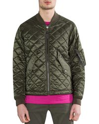 Burberry 'evanson' Reversible Quilted Bomber Jacket - Multicolor