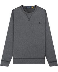 Ralph Lauren 'classic' Crewneck Sweatshirt Heather Grey