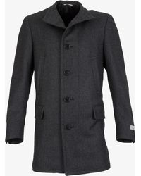 Canali - Water Resistant Wool Coat Grey - Lyst