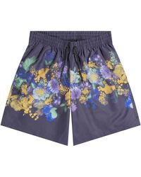 Dries Van Noten 'phibbs' Floral Swim Short Navy - Blue
