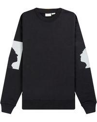 Dries Van Noten Len Lye 'hans Richter' Printed Silhouette Sweatshirt Black