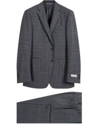 Canali Giant Check Wool Suit Grey - Gray