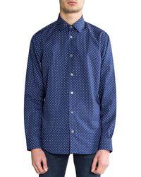 Paul Smith Soho Fit Polka Dot Shirt Navy - Blue