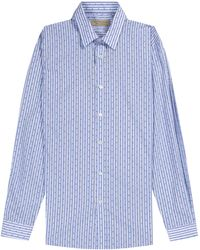 Pockets Burberry 'salcombe' Striped Shirt Mid Blue
