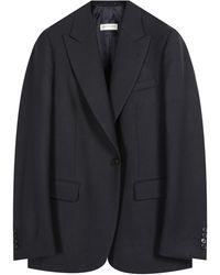 Dries Van Noten Dries Van Noten 'basso' Wool Twill Suit Jacket - Blue