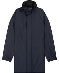 Emporio Armani Classic Woven Trench Coat Navy - Blue