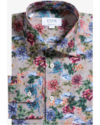 Eton of Sweden - Contemporary Fit Blooming Flower Print Shirt - Lyst