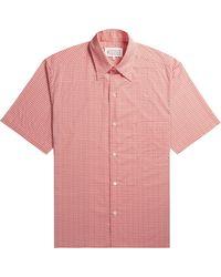 Pockets Maison Margiela Micro Square Print Shirt Red/white - Pink