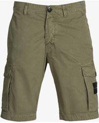 Stone Island - Garment Dyed Cargo Shorts Washed Khaki - Lyst
