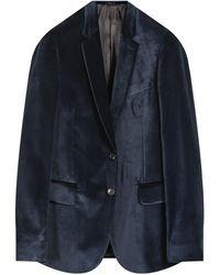 Paul Smith 2 Button Velvet Blazer Navy - Blue