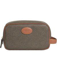 Mulberry 'scotchgrain' Wash Bag Mole/cognac - Multicolour