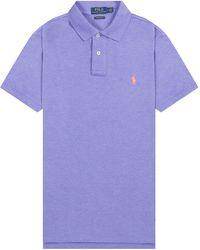 Pockets - Ralph Lauren Basic Slim Fit Polo Purple - Lyst