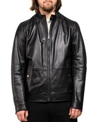 BOSS 'nocan' Leather Jacket Black