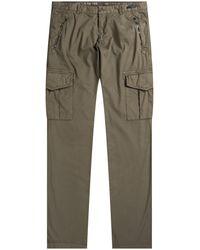 Paul & Shark Silk & Stretch Cotton Combat Trousers Military Green