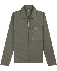Pockets Cp Company 'metropolis Series' Overshirt Laurel Wreath - Green