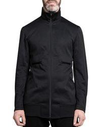 Pockets Y-3 Longline Track Jacket Black