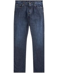 Canali Luxury Denim Jeans Mid Blue