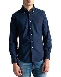 Polo Ralph Lauren Slim Fit Classic Oxford Shirt Navy - Blue