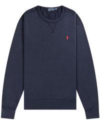 Ralph Lauren 'classic' Crew Sweatshirt Navy - Blue
