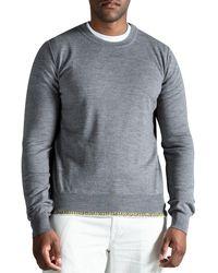 Maison Margiela Crew Neck Knit With Multi Knitted Bottom Grey