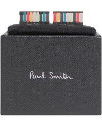 Paul Smith 'rectangle Centre' Mutli Stripe Cufflinks Multi - Multicolour