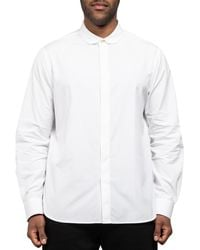 Paul Smith Penny Collar Cotton Stretch Shirt White