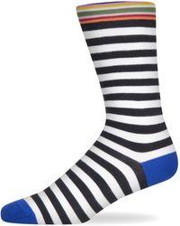Paul Smith 'two Stripe' Sock Black/white