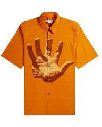 Dries Van Noten Verner Panton Hand Print Shirt Orange
