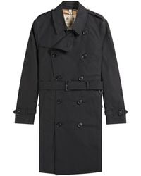 Burberry 'the Kensington' Mid Trench Coat Black