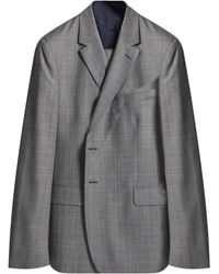 Paul Smith London 'willoughby' Detailed Check Suit Light Gray