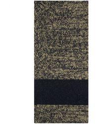 Dries Van Noten 'maldini' Knitted Snood Scarf Khaki - Multicolor