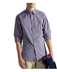 Polo Ralph Lauren Slim Fit Stretch-cotton Check Shirt Blue/red