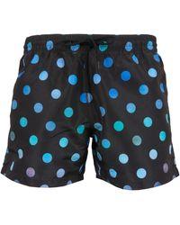 Paul Smith Swimwear Large Polka Dot Swim Shorts Navy - Blue