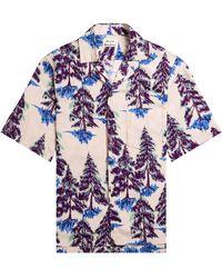 Acne Studios Tree Print Shirt Powder Pink/blue