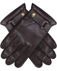 Polo Ralph Lauren Phone-touch Leather Gloves Dark Brown