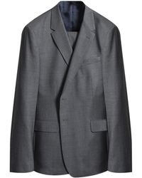 Paul Smith 'willoughby' Plain Wool Travel Suit Mid Gray