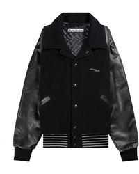 Acne Studios Omber Wool Bomber Jacket Black