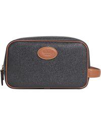 Mulberry Scotchgrain Wash Bag Black/cognac