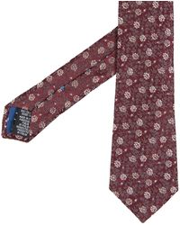 Paul Smith Floral Design Tie Damson - Multicolor