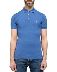 Polo Ralph Lauren Slim Fit Stretch Polo Blue Heather