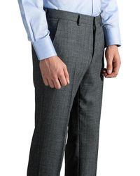 BOSS 'genesis4' Herringbone Wool Pants Grey/black - Gray