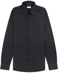 Dries Van Noten 'pop Stud' Shirt Black - Blue