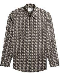 Pockets Maison Margiela Cube Logo Printed Shirt Black