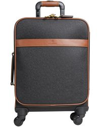 Mulberry 'scotchgrain' Travel Luggage Black/cognac