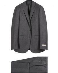 Canali Flannel Suit Grey - Gray