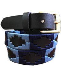 Carlos Diaz Miramar - Skinny Polo Belt - Blue