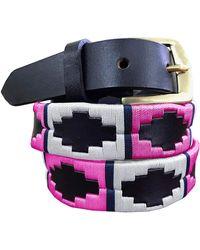 Carlos Diaz Valentín - Skinny Polo Belt - Multicolor