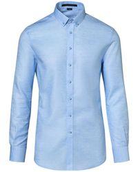 Porsche Design Button Down Casual Shirt - Blau