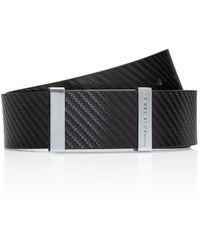 Porsche Design Buckle 40 Leather Business Belt - Schwarz